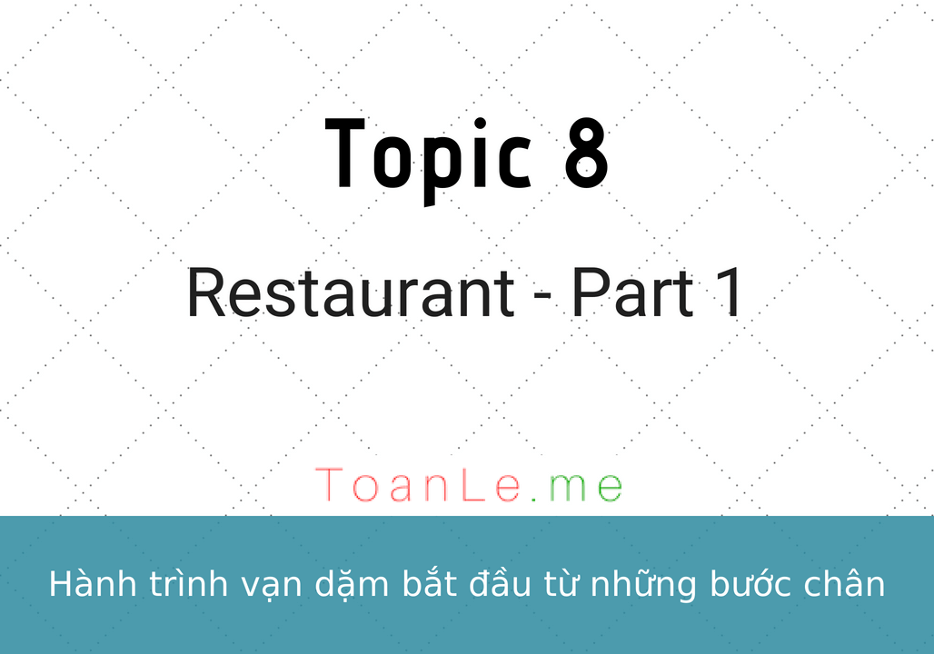 toanle me Restaurant - Part 1