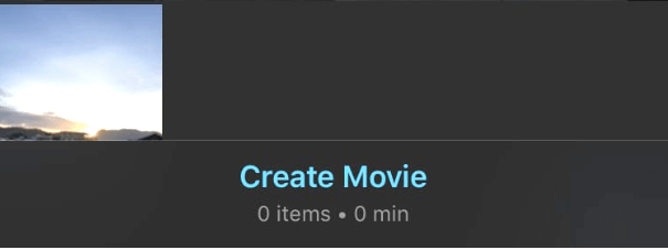 Buoc 3 ghép vdeo Create Movie iMoive