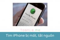 Cách tìm iPhone bị mất hoặc thất lạc ngay cả khi tắt nguồn, tắt máy.