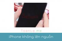 toan le luca iphone bat khong len nguon