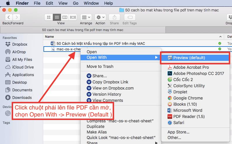 Cách bỏ Mật khẩu bảo vệ tập tin PDF trên máy MAC - Toan Le