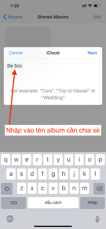 Nhap ten Album can chia se