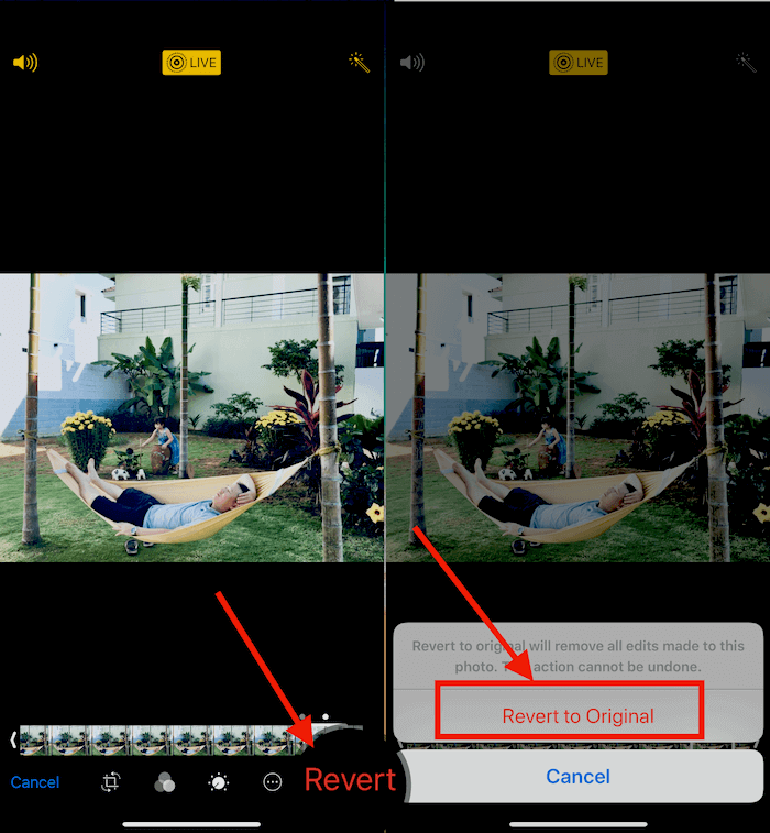 Hình 09: Chuyển ảnh động về trạng thái ban đầu, khi chưa chỉnh sửa