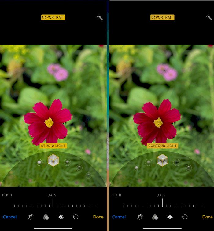 Hình 15: Thay đổi hiệu ứng ánh sáng cho bức ảnh chụp Portrait (Studio Light, Contour Light)
