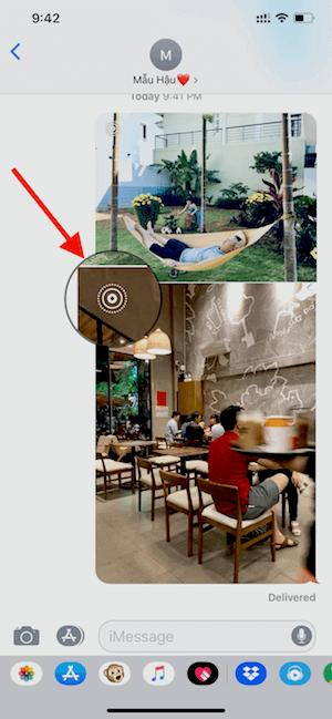 Hình 16: Cách nhận biết ảnh động khi chia sẻ