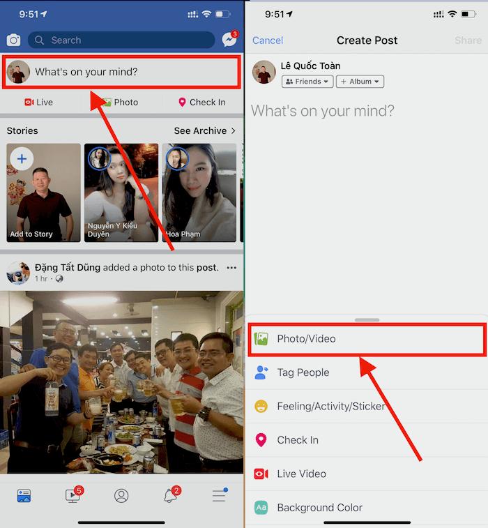 Hình 17: Chia sẻ ảnh động trên Facebook.