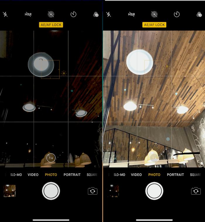 Hình 18: Điều chỉnh độ phơi sáng cho bức ảnh cần chụp