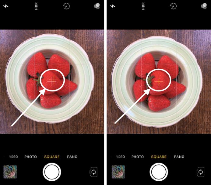 Hình 7: Cân chỉnh ảnh khi chụp từ trên xuống.