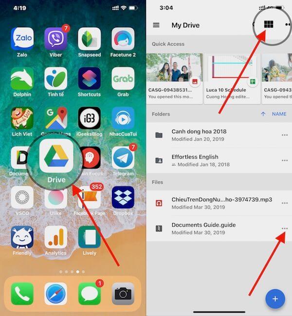 02 mo ung dung google drive