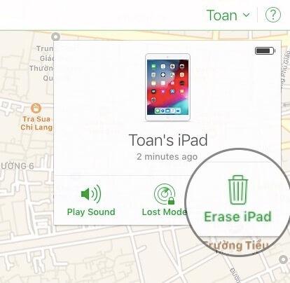 04 chon Erase iPhone