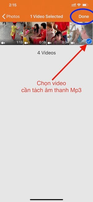 04 chon video can chuyen sau do cham Done
