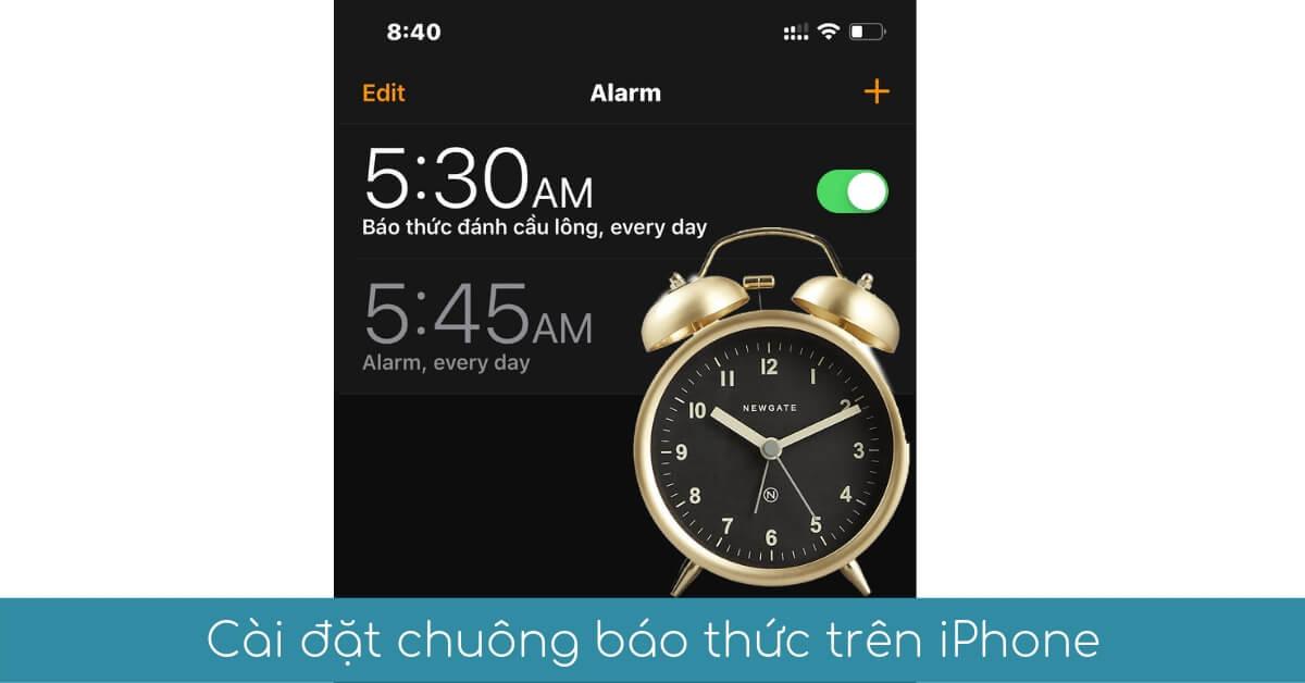 cai dat chuong bao thuc tren iphone