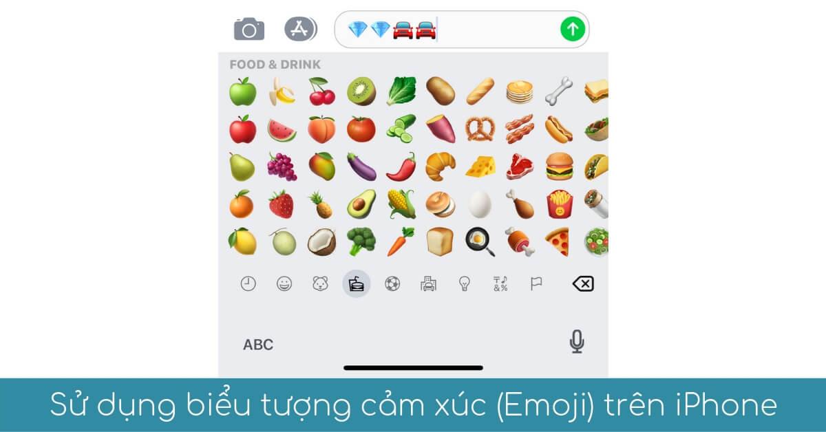 su dung bieu tuong Emoji cam xuc tren iphone