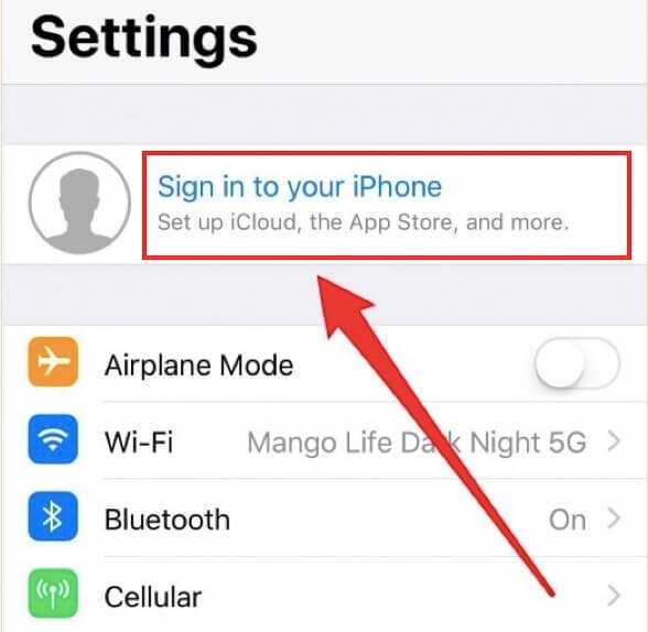 01 Sign in to your iPhone