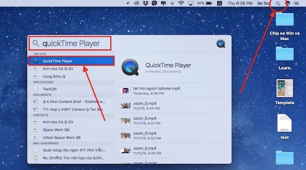 01 mo ung dung QuickTime Player
