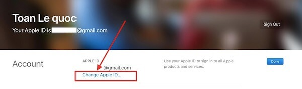02 Change Apple ID thay doi dia chi email