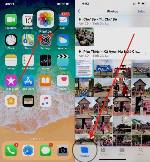 24 mo ung dung photos chon tab photos