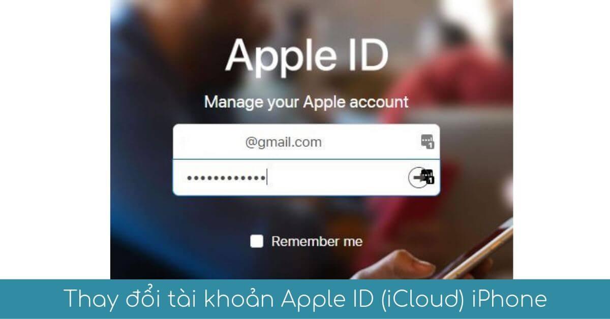Thay doi tai khoan Apple ID tren IPhone