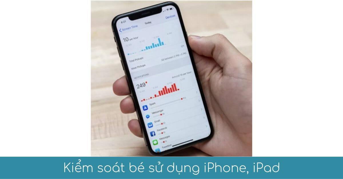 kiem soat be su dung iphone ipad