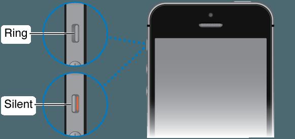 Hình kiểm tra iPhone có trong chế độ im lặng hay không?