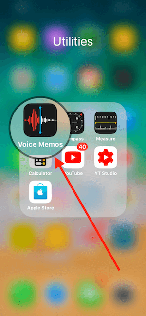 01 mo ung dung voice memos tren iphone