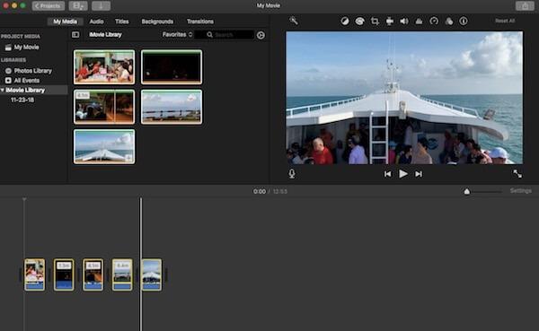 05 chon iMovie Library