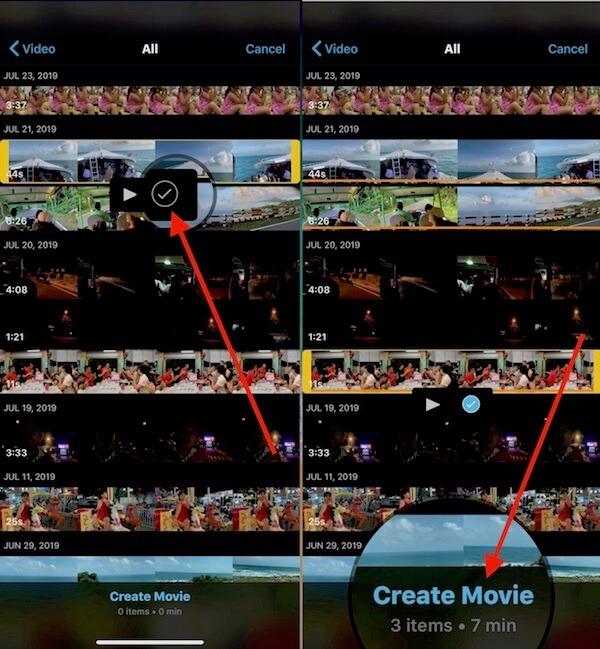06 chon nhieu video cung luc trong imovie