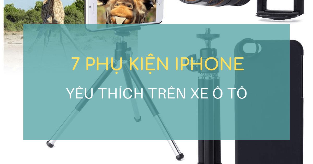 phu kien iphone yeu thich tren o to