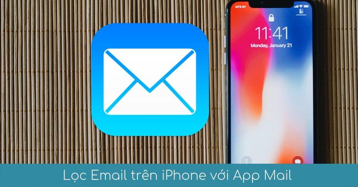 loc email tren iphone voi app mail