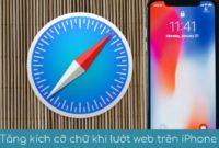 Tang kich co cho khi luot web tren iphone