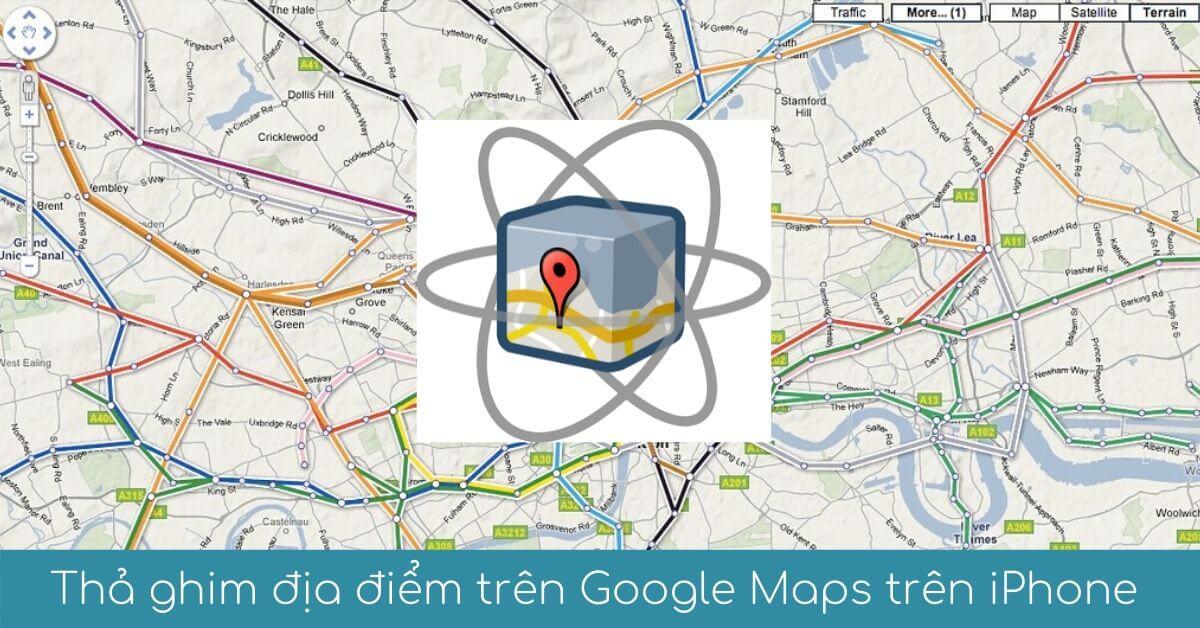 tha ghim tren google maps tren iphone