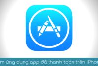 xem ung dung app da thanh toan tren iPhone new new